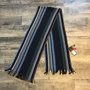 NWT Fraas striped wool scarf made in Germany